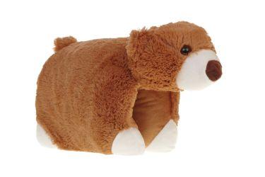 Poduszka składana niedźwiadek brązowy pluszowa maskotka średnia