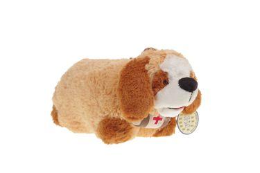 Poduszka składana piesek brązowy ratownik pluszowa maskotka mała