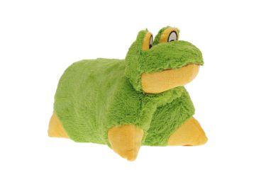 Poduszka składana maskotka pluszowa zielona żaba średnia