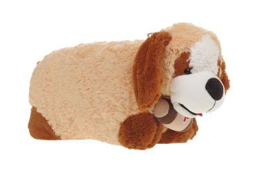 Poduszka składana piesek brązowy, pluszowa maskotka średnia
