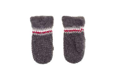 Rękawiczki wełniane z jednym palcem ręcznie robione szare ciemne