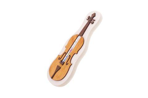 Termometr skrzypce pamiątka drewniana prezent