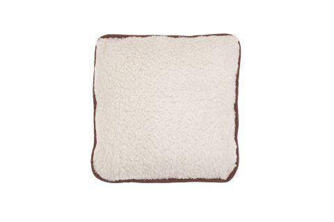 Poduszka wełniana merynos z zamkiem jaś 45x45 kremowa