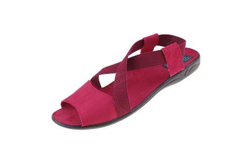 Sandały profilowane z gumką komfort BIO Adanex 17496 bordo 17496