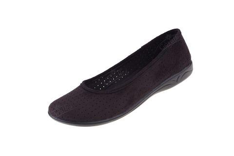Baleriny pantofle BIO Adanex produkt Polski 16638 czarne