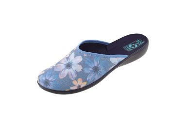 Pantofle Adanex BIO klapki kryte 22856 w kwiaty
