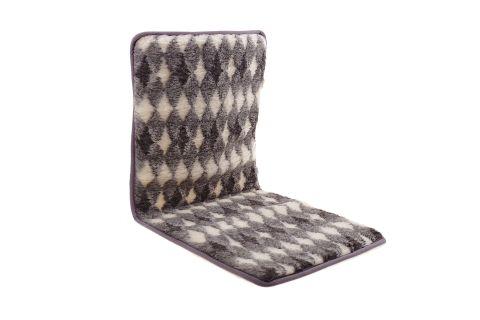 Narzuta wełniana merynos na krzesło fotel 50x120 cm romby