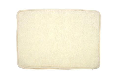 Poszewka wełniana na poduszkę 50x70 kremowa