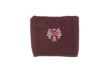 Ręcznik bawełniany folk haft parzenica 70x140 brąz