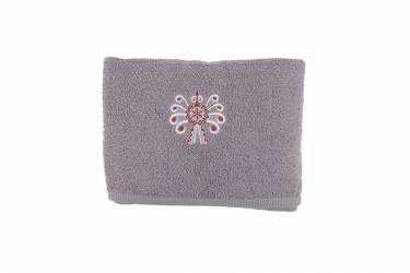 Ręcznik bawełniany folk haft parzenica 70x140 szary