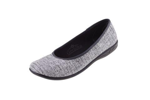 Baleriny pantofle BIO Adanex Polskie 23030 srebrne