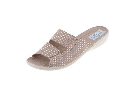 Klapki pantofle odkryte BIO Adanex 22862 szersze z gumą