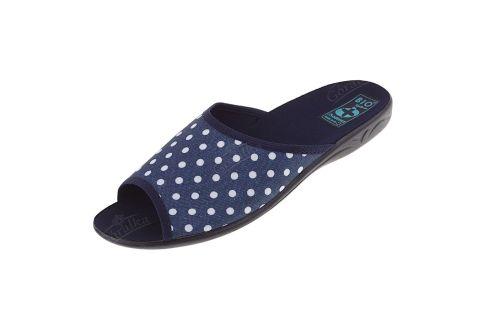 Pantofle klapki z odkrytymi palcami BIO Adanex 22997 groszki