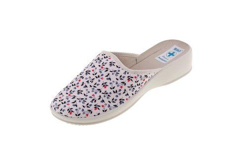 Pantofle na koturnie klapki kryte 23077 BIO Adanex