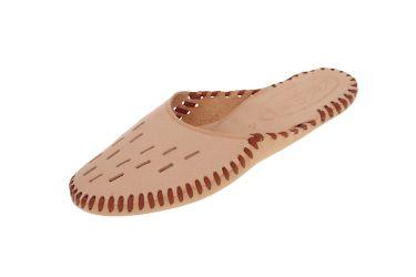 Pantofle góralskie skórzane rzemyki szyte ręcznie z podeszwą skórzaną