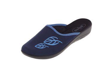 Pantofle Befado 552D002 klapki kryte granatowe