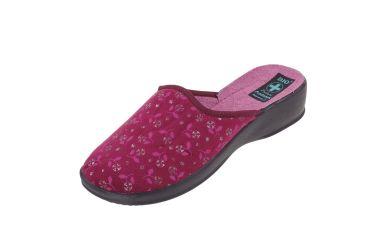 Pantofle na koturnie klapki kryte 22411 BIO Adanex burgund