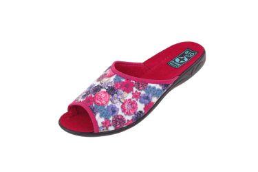 Pantofle klapki z odkrytymi palcami BIO Adanex 23442 kwiaty