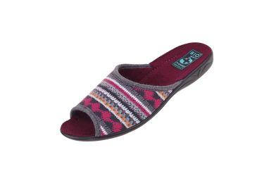 Pantofle klapki z odkrytymi palcami BIO Adanex 23558 szare