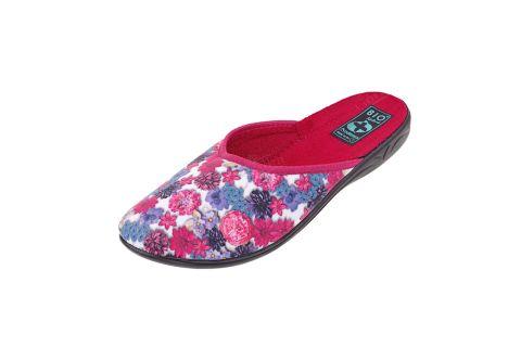 Pantofle Adanex BIO klapki z krytymi palcami 23773 kwiaty