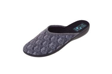 Pantofle Adanex BIO klapki z krytymi palcami 23492 szare