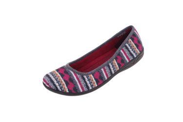 Baleriny BIO Adanex 23560 Polskie pantofle szare