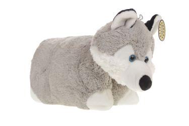 Poduszka składana maskotka plusz pies husky średni