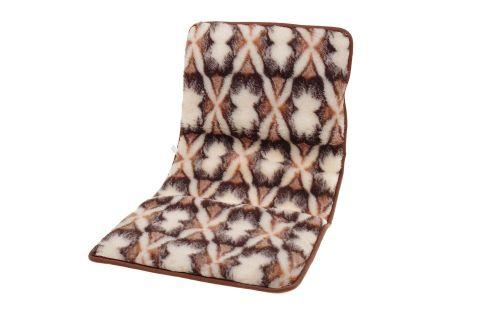 Narzuta wełniana 100% merynos na krzesło fotel 50x120 cm chmurki