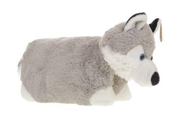 Poduszka składana maskotka plusz pies husky mały