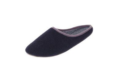 Pantofle filcowe z podeszwą gumową granatowe