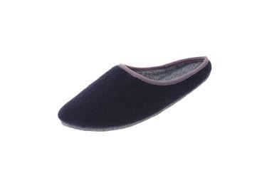 Pantofle filcowe z podeszwą filcową granatowe