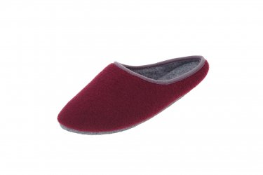 Pantofle filcowe z podeszwą filcową bordowe