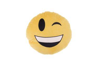 Poduszka pluszowa buzia uśmiechnięta z przymrużonym oczkiem