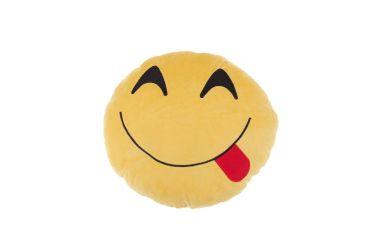 Poduszka pluszowa buzia uśmiechnięta z językiem