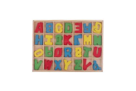 Alfabet drewniany abecadło literki w pudełku