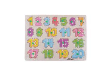 Puzzle układanka cyferki liczby 1-20 z uchwytami