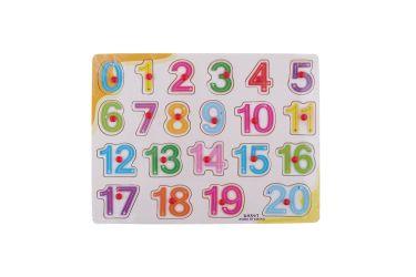 Puzzle układanka cyferki liczby 0-20 z uchwytami i strzałkami