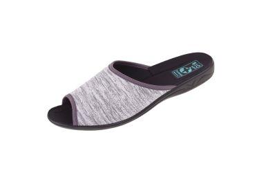Pantofle klapki z odkrytymi palcami BIO Adanex 23900 szare