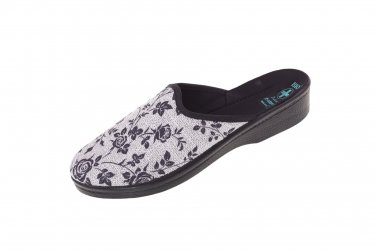 Pantofle na koturnie klapki kryte 23875 BIO Adanex