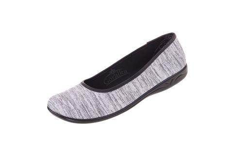 Baleriny pantofle BIO Adanex Polskie 23897 srebrne