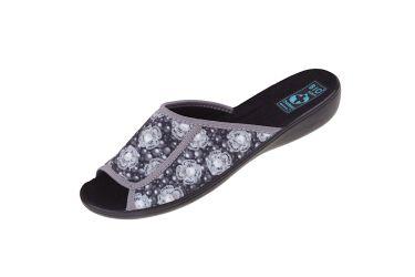Pantofle klapki odkryte BIO Adanex 24286 szersze szare