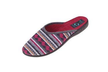 Pantofle BIO Adanex 23556 klapki z krytymi palcami bordowe