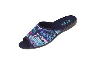 Pantofle klapki z odkrytymi palcami BIO Adanex 24122 niebieskie
