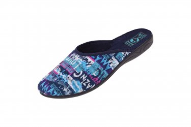Pantofle Adanex BIO klapki z krytymi palcami 24119 niebieskie