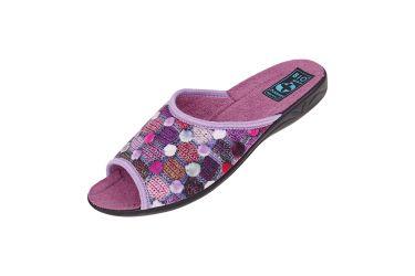 Pantofle klapki z odkrytymi palcami BIO Adanex 24232 fioletowe