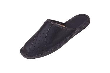 Kapcie męskie pantofle z wyściółką pod piętą czarne