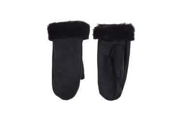 Rękawiczki skórzane ocieplane z jednym palcem czarne