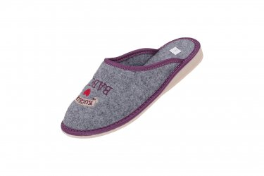KOCHANA BABCIA Pantofle filcowe dla babci fiolet