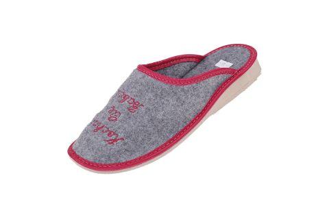 KOCHAM CIĘ BABCIU Pantofle filcowe dla babci czerwone