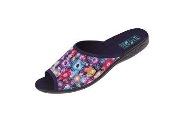 Pantofle klapki z odkrytymi palcami BIO Adanex 24641 kolorowe